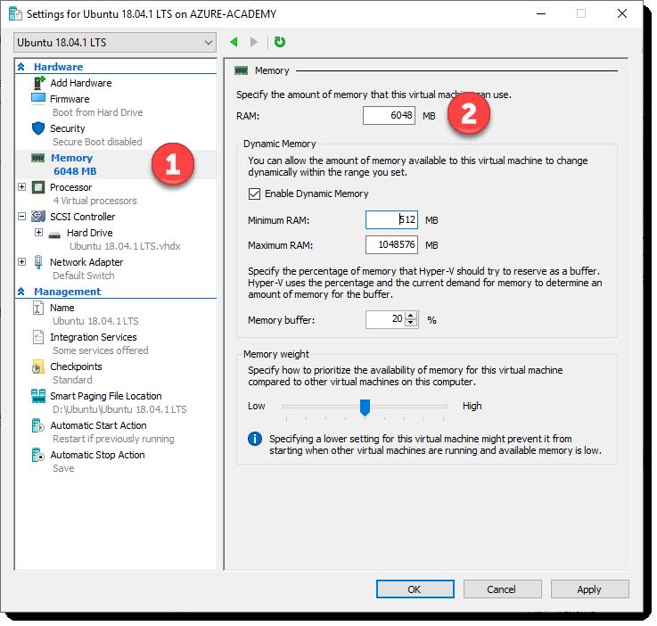 Setting an Azure & Docker dev environment on Ubuntu in Hyper-V Part-1